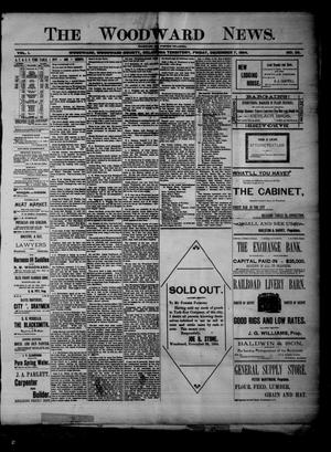 Primary view of object titled 'The Woodward News. (Woodward, Okla. Terr.), Vol. 1, No. 28, Ed. 1 Friday, December 7, 1894'.