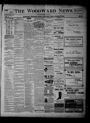 Primary view of object titled 'The Woodward News. (Woodward, Okla.), Vol. 4, No. 23, Ed. 1 Friday, October 29, 1897'.