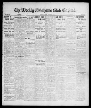 Primary view of object titled 'The Weekly Oklahoma State Capital. (Guthrie, Okla.), Vol. 18, No. 19, Ed. 1 Saturday, September 1, 1906'.