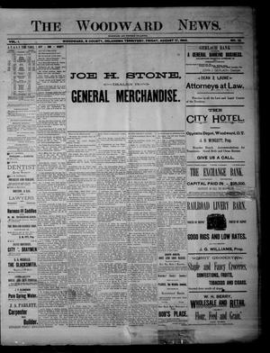 Primary view of The Woodward News. (Woodward, Okla. Terr.), Vol. 1, No. 12, Ed. 2 Friday, August 17, 1894