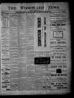 Primary view of object titled 'The Woodward News. (Woodward, Okla. Terr.), Vol. 1, No. 19, Ed. 1 Friday, October 5, 1894'.