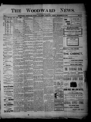 Primary view of object titled 'The Woodward News. (Woodward, Okla. Terr.), Vol. 1, No. 31, Ed. 1 Friday, December 28, 1894'.