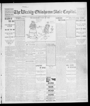Primary view of object titled 'The Weekly Oklahoma State Capital. (Guthrie, Okla.), Vol. 14, No. 30, Ed. 1 Saturday, October 25, 1902'.