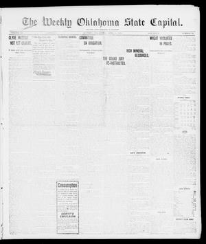Primary view of object titled 'The Weekly Oklahoma State Capital. (Guthrie, Okla.), Vol. 10, No. 52, Ed. 1 Saturday, April 8, 1899'.