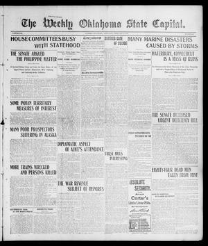 Primary view of object titled 'The Weekly Oklahoma State Capital. (Guthrie, Okla.), Vol. 13, No. 42, Ed. 1 Saturday, February 8, 1902'.