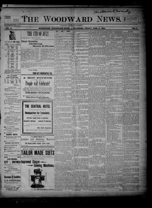 Primary view of object titled 'The Woodward News. (Woodward, Okla.), Vol. 3, No. 3, Ed. 1 Friday, June 12, 1896'.