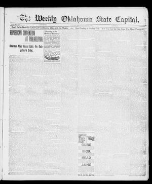 Primary view of object titled 'The Weekly Oklahoma State Capital. (Guthrie, Okla.), Vol. 12, No. 9, Ed. 1 Saturday, June 23, 1900'.
