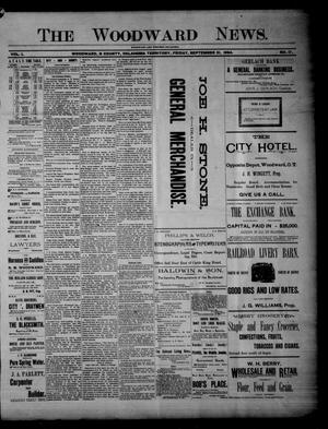 Primary view of The Woodward News. (Woodward, Okla. Terr.), Vol. 1, No. 17, Ed. 1 Friday, September 21, 1894