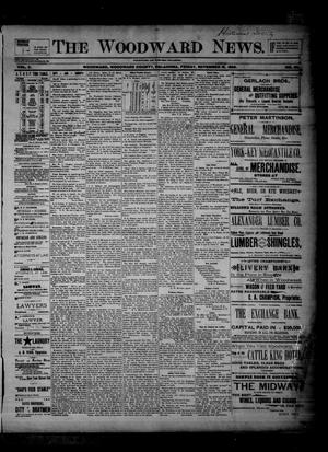 Primary view of object titled 'The Woodward News. (Woodward, Okla.), Vol. 2, No. 25, Ed. 1 Friday, November 15, 1895'.