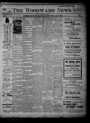 Primary view of object titled 'The Woodward News. (Woodward, Okla.), Vol. 3, No. 7, Ed. 1 Friday, July 10, 1896'.
