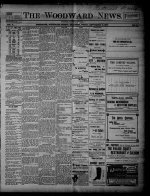 Primary view of object titled 'The Woodward News. (Woodward, Okla.), Vol. 4, No. 16, Ed. 1 Friday, September 10, 1897'.