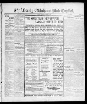 Primary view of object titled 'The Weekly Oklahoma State Capital. (Guthrie, Okla.), Vol. 18, No. 30, Ed. 1 Saturday, November 24, 1906'.