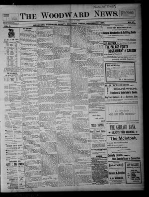 Primary view of object titled 'The Woodward News. (Woodward, Okla.), Vol. 3, No. 27, Ed. 1 Friday, November 27, 1896'.