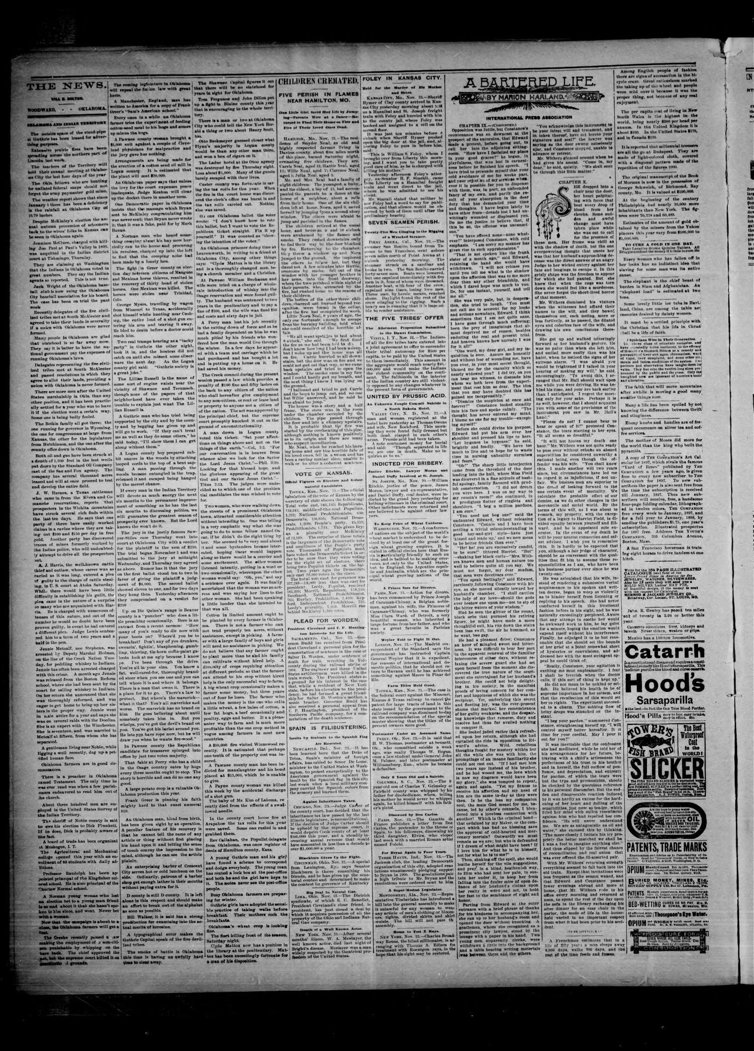 The Woodward News. (Woodward, Okla.), Vol. 3, No. 27, Ed. 1 Friday, November 27, 1896                                                                                                      [Sequence #]: 2 of 4