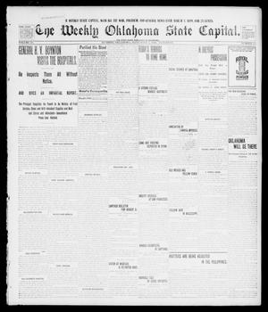 Primary view of object titled 'The Weekly Oklahoma State Capital. (Guthrie, Okla.), Vol. 10, No. 23, Ed. 1 Saturday, September 3, 1898'.