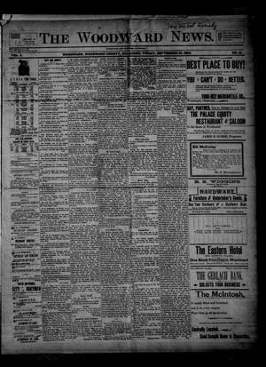 Primary view of object titled 'The Woodward News. (Woodward, Okla.), Vol. 3, No. 18, Ed. 1 Friday, September 25, 1896'.