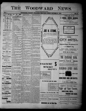 Primary view of object titled 'The Woodward News. (Woodward, Okla. Terr.), Vol. 1, No. 21, Ed. 1 Friday, October 19, 1894'.