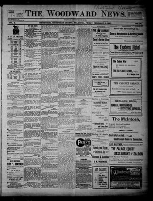 Primary view of object titled 'The Woodward News. (Woodward, Okla.), Vol. 3, No. 38, Ed. 1 Friday, February 12, 1897'.