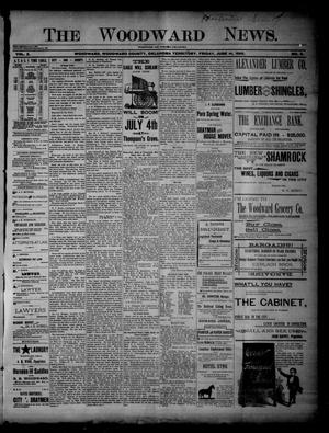 Primary view of object titled 'The Woodward News. (Woodward, Okla. Terr.), Vol. 2, No. 3, Ed. 1 Friday, June 14, 1895'.