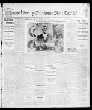 Primary view of object titled 'The Weekly Oklahoma State Capital. (Guthrie, Okla.), Vol. 15, No. 1, Ed. 1 Saturday, May 16, 1903'.