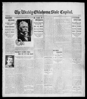 Primary view of object titled 'The Weekly Oklahoma State Capital. (Guthrie, Okla.), Vol. 17, No. 16, Ed. 1 Saturday, July 15, 1905'.
