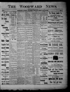 Primary view of object titled 'The Woodward News. (Woodward, Okla. Terr.), Vol. 1, No. 8, Ed. 1 Friday, July 20, 1894'.
