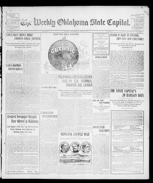 Primary view of object titled 'The Weekly Oklahoma State Capital. (Guthrie, Okla.), Vol. 15, No. 34, Ed. 1 Saturday, December 12, 1903'.