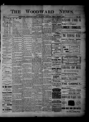 Primary view of object titled 'The Woodward News. (Woodward, Okla. Terr.), Vol. 1, No. 40, Ed. 1 Friday, March 1, 1895'.