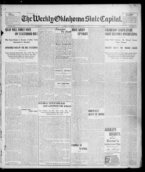 Primary view of object titled 'The Weekly Oklahoma State Capital. (Guthrie, Okla.), Vol. 14, No. 43, Ed. 1 Saturday, January 24, 1903'.