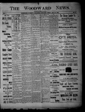 Primary view of object titled 'The Woodward News. (Woodward, Okla. Terr.), Vol. 1, No. 9, Ed. 1 Friday, July 27, 1894'.