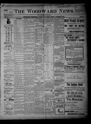 Primary view of object titled 'The Woodward News. (Woodward, Okla.), Vol. 3, No. 20, Ed. 1 Friday, October 9, 1896'.