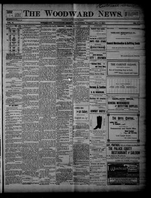 Primary view of object titled 'The Woodward News. (Woodward, Okla.), Vol. 4, No. 7, Ed. 1 Friday, July 9, 1897'.