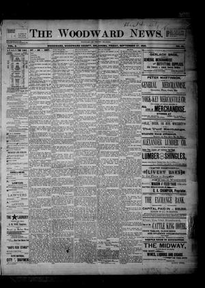 Primary view of object titled 'The Woodward News. (Woodward, Okla.), Vol. 2, No. 18, Ed. 1 Friday, September 27, 1895'.