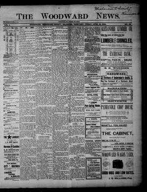 Primary view of object titled 'The Woodward News. (Woodward, Okla. Terr.), Vol. 1, No. 48, Ed. 1 Friday, April 26, 1895'.