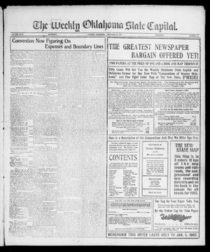 Primary view of object titled 'The Weekly Oklahoma State Capital. (Guthrie, Okla.), Vol. 18, No. 33, Ed. 1 Saturday, December 15, 1906'.