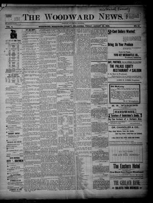 Primary view of object titled 'The Woodward News. (Woodward, Okla.), Vol. 3, No. 14, Ed. 1 Friday, August 28, 1896'.