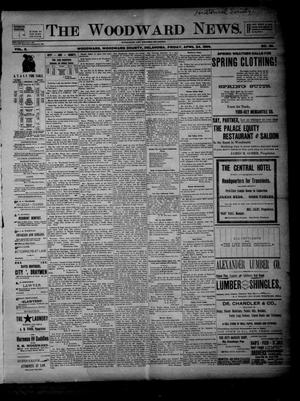Primary view of object titled 'The Woodward News. (Woodward, Okla.), Vol. 2, No. 48, Ed. 1 Friday, April 24, 1896'.