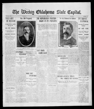 Primary view of object titled 'The Weekly Oklahoma State Capital. (Guthrie, Okla.), Vol. 17, No. 28, Ed. 1 Saturday, October 7, 1905'.