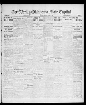 Primary view of object titled 'The Weekly Oklahoma State Capital. (Guthrie, Okla.), Vol. 18, No. 1, Ed. 1 Saturday, April 28, 1906'.