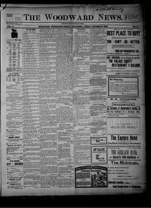 Primary view of object titled 'The Woodward News. (Woodward, Okla.), Vol. 3, No. 21, Ed. 1 Friday, October 16, 1896'.