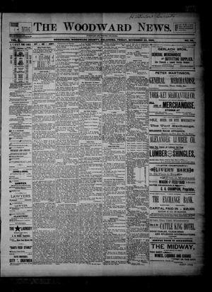 Primary view of object titled 'The Woodward News. (Woodward, Okla.), Vol. 2, No. 26, Ed. 1 Friday, November 22, 1895'.