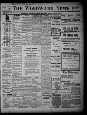 Primary view of object titled 'The Woodward News. (Woodward, Okla.), Vol. 3, No. 34, Ed. 1 Friday, January 15, 1897'.