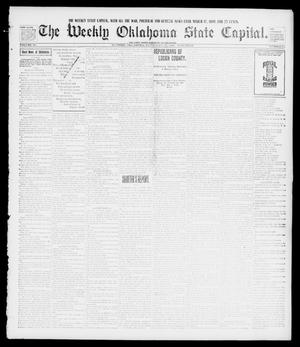 Primary view of object titled 'The Weekly Oklahoma State Capital. (Guthrie, Okla.), Vol. 10, No. 25, Ed. 1 Saturday, September 17, 1898'.