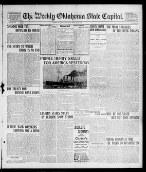Primary view of object titled 'The Weekly Oklahoma State Capital. (Guthrie, Okla.), Vol. 13, No. 44, Ed. 1 Saturday, February 22, 1902'.