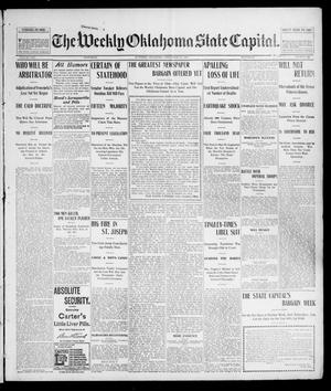 Primary view of object titled 'The Weekly Oklahoma State Capital. (Guthrie, Okla.), Vol. 14, No. 39, Ed. 1 Saturday, December 27, 1902'.