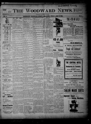 Primary view of object titled 'The Woodward News. (Woodward, Okla.), Vol. 3, No. 4, Ed. 1 Friday, June 19, 1896'.