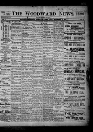 Primary view of object titled 'The Woodward News. (Woodward, Okla.), Vol. 2, No. 17, Ed. 1 Friday, September 20, 1895'.