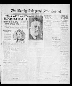 Primary view of object titled 'The Weekly Oklahoma State Capital. (Guthrie, Okla.), Vol. 16, No. 50, Ed. 1 Saturday, March 11, 1905'.