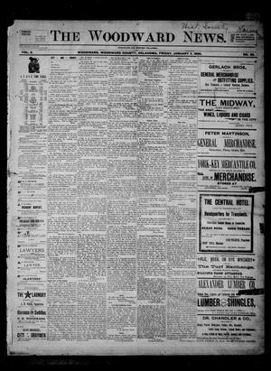 Primary view of object titled 'The Woodward News. (Woodward, Okla.), Vol. 2, No. 32, Ed. 1 Friday, January 3, 1896'.