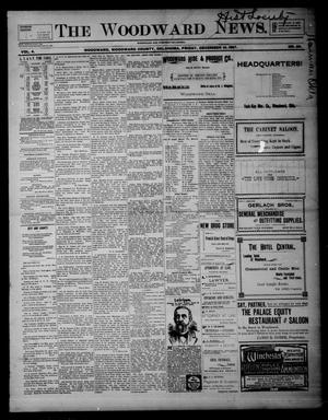 Primary view of object titled 'The Woodward News. (Woodward, Okla.), Vol. 4, No. 29, Ed. 1 Friday, December 10, 1897'.